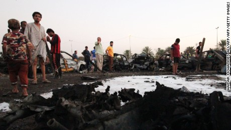 At least 10 people were killed and 70 people wounded when a parked car bomb detonated in Baghdad's Sadr City district.