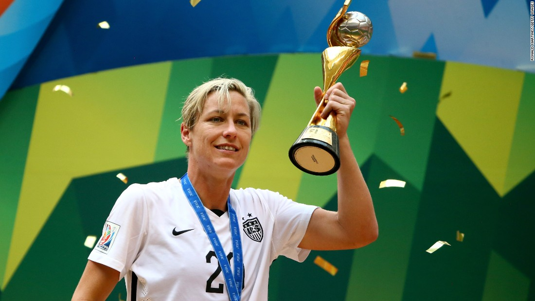 "American soccer legend Abby Wambach's sexuality was an <a href=""http://www.outsports.com/2015/5/26/8659211/abby-wambach-lesbian-womens-world-cup-canada"" target=""_blank"">open secret</a> for years before she married fellow soccer player Sarah Huffman in 2013."