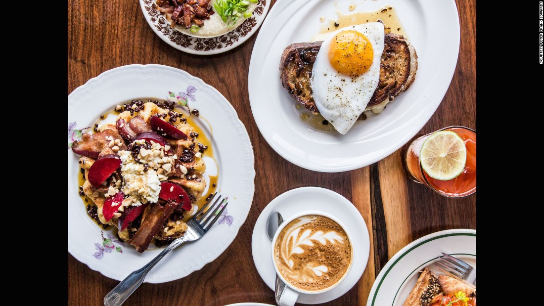 "Specializing in breakfast and lunch dishes, the daytime-only eatery <a href=""http://www.bonappetit.com/restaurants-travel/best-new-restaurants/article/milktooth-no-10?mbid=social_facebook"" target=""_blank"">Milktooth</a> ""proves that brunch can — no, should — be the most interesting, inspiring, and ridiculously delicious meal of the day,"" according to Knowlton."