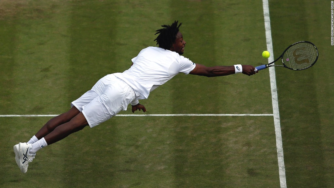 Monfils is known for his counterpunching style and flinging his body all over the court.
