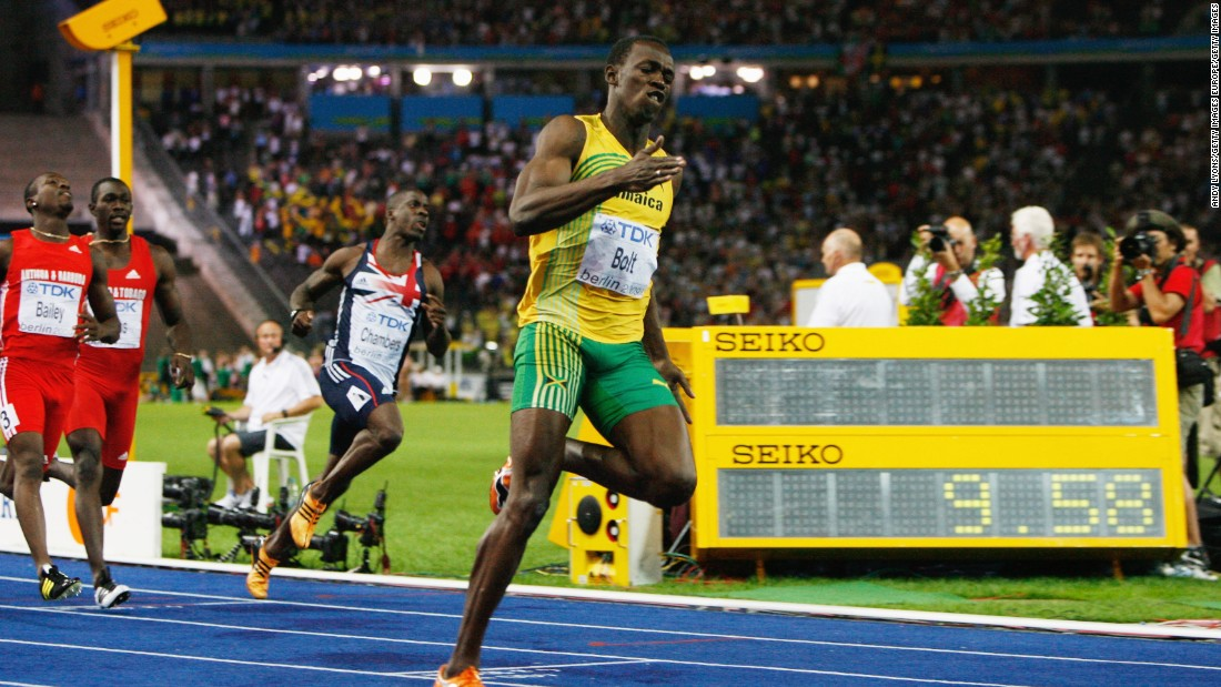 But his career high - at least in speed terms - was at the Worlds in 2009 where he set a 100m world record of 9.58 seconds.