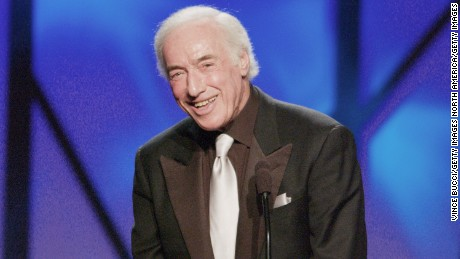Bud Yorkin accepts a lifetime achievement award at the 2003 Producers Guild Awards.