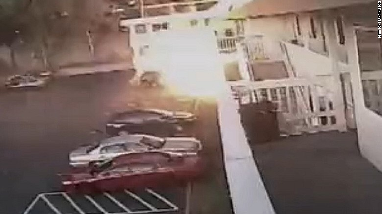 Surveillance video captures motel explosion
