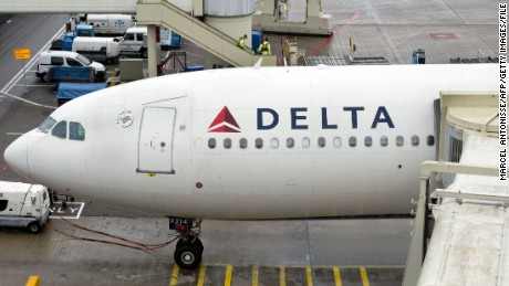 Amateur video captured a lightning strike hitting a Delta Air Lines plane at the Atlanta airport on Tuesday.