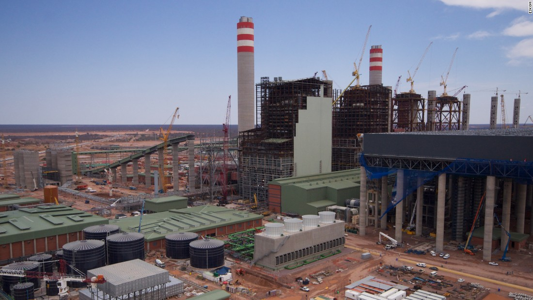 Representing a significant investment in coal-fired energy, the two power stations are amongst the costliest projects underway across the continent. Construction of Medupi Power Station (pictured) began in 2007 and is projected to generate 4,764mW when all six of its units are up and firing. Once completed the site will have used  20,200 tons of steel -- more than the world's tallest building, the Burj al Khalifa in Dubai.