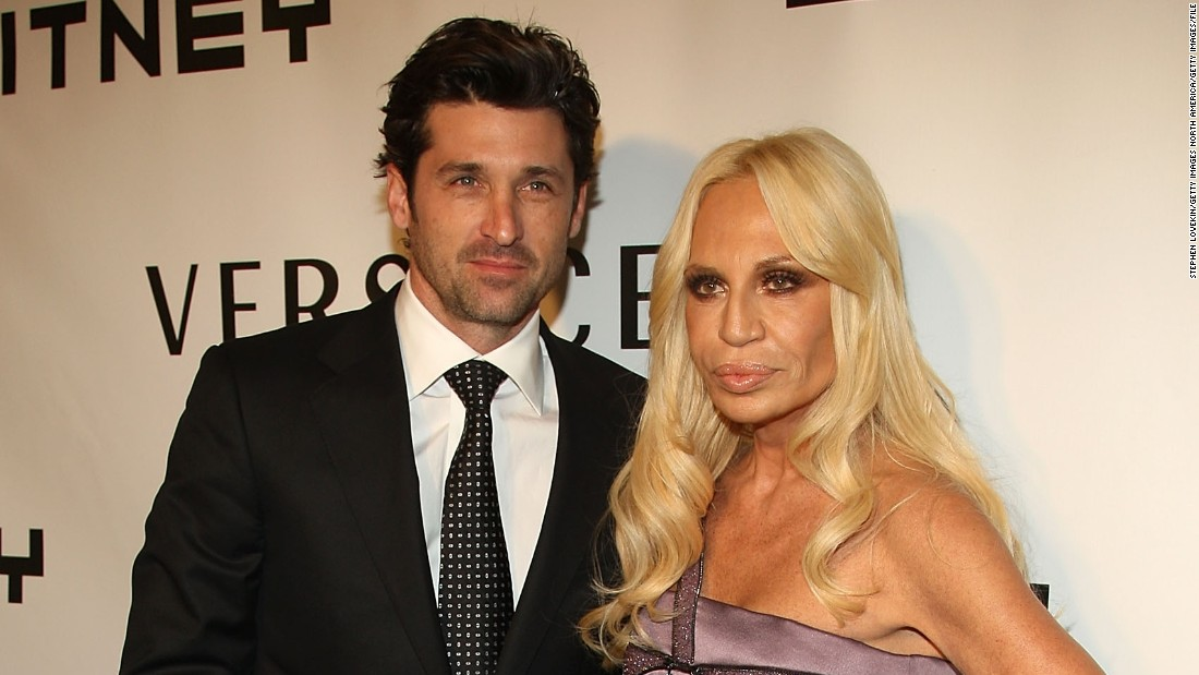 Dempsey is pictured with designer Donatella Versace attending the 2008 Whitney Museum of American Art's gala and studio party at the Whitney Museum of American Art in October 2008 in New York City.