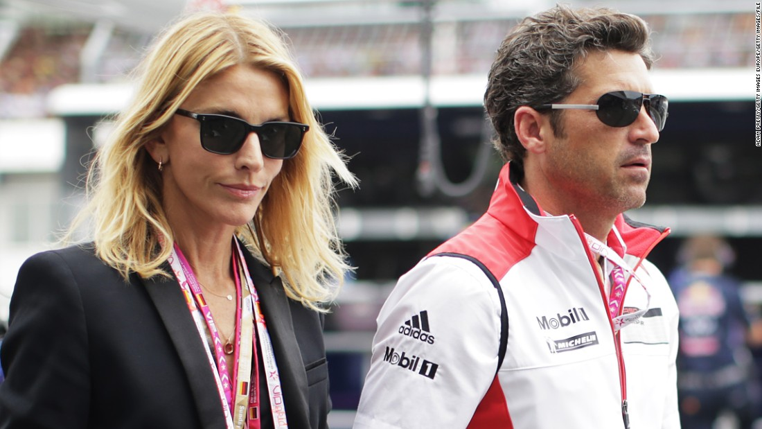 In January, Fink filed for divorce. Dempsey and Fink are pictured before the German Grand Prix at Hockenheimring on July 20, 2014 in Hockenheim, Germany.