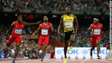 Bolt beats Gatlin at World Athletics Championships
