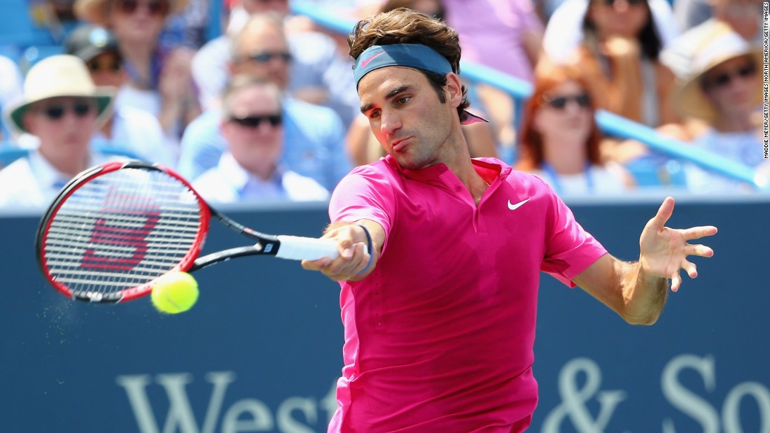 Roger Federer faced off against Novak Djokovic in the final of the Cincinnati Masters Sunday.