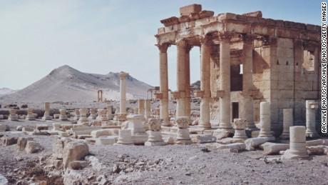 The temple of Baashamin in Palmyra, in this 1960 archive photo.