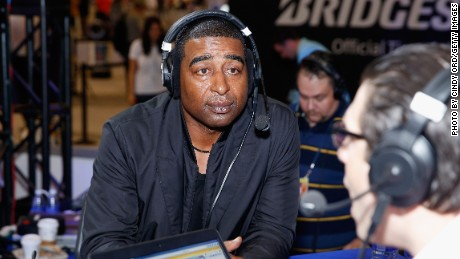 NFL Hall of Famer Cris Carter is shown at the Phoenix Convention Center in January.