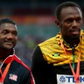bolt gatlin podium