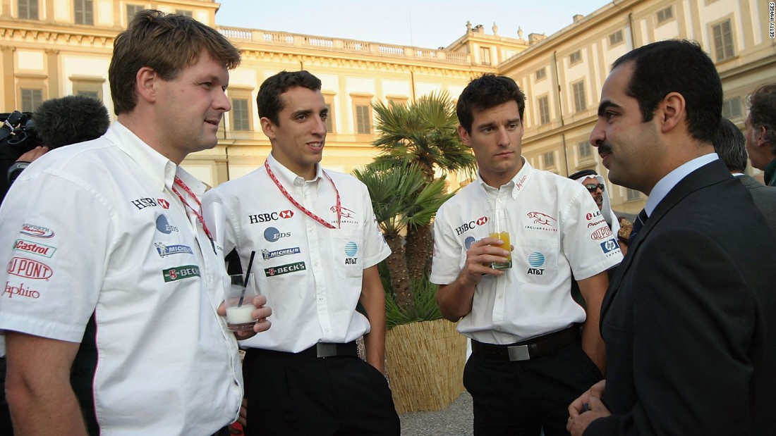 Wilson, second from left, attends a promotional event in Monza, Italy, in September 2003.