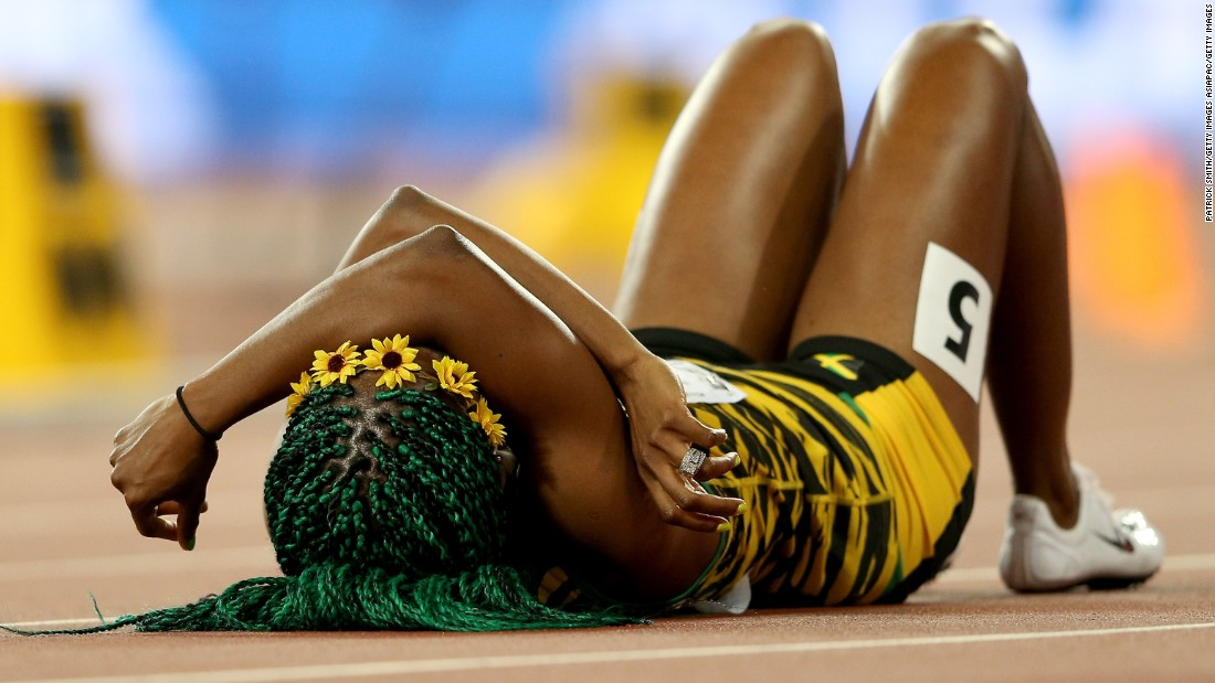 It was Fraser-Pryce's third world title, after triumphs over the distance in 2009 and 2013.
