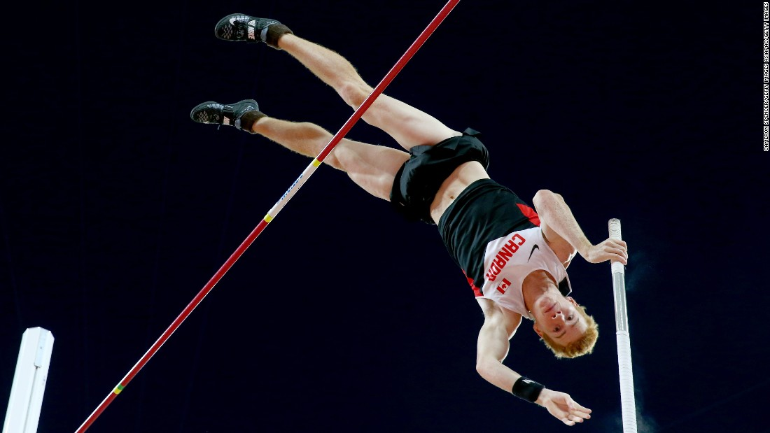 Canada's Shawnacy Barber caused an upset in the men's pole vault final. The 21-year-old won on countback from Germany's defending champion Raphael Holzdeppe.