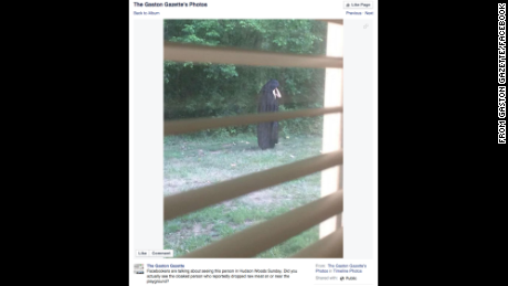 Police say this creepy figure could be just a prank.