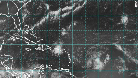 Tropical Storm Erika had 45 mph winds on Tuesday as it formed in the Atlantic.