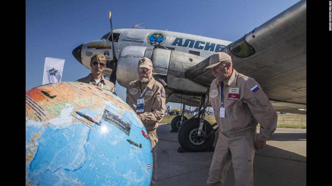 A World War II-era DC-3 aircraft that participated in the D-day invasion is part of the show, along with its crew.