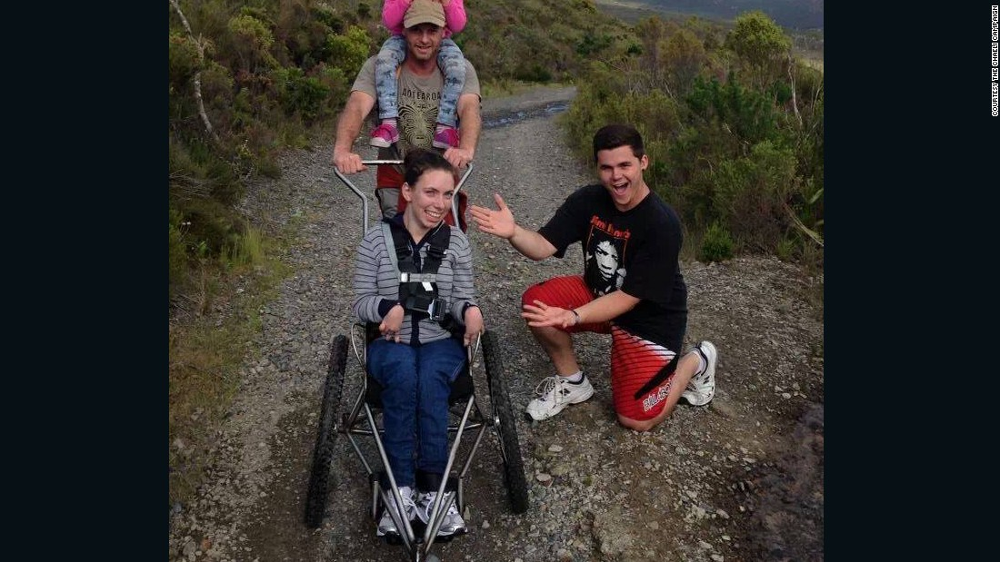 Mycrof, who was diagnosed with cerebral palsy at 11 months old, plans to be the first female quadriplegic to climb Kilimanjaro.