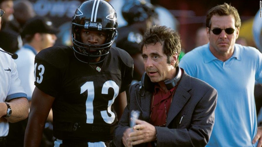 "Director Oliver Stone's 1999 take on the ins and outs of pro football, ""Any Given Sunday,"" features Al Pacino as a coach and Jamie Foxx as a player."