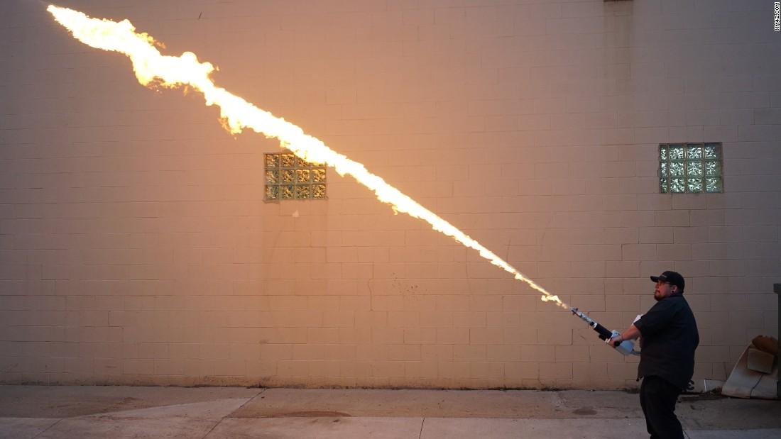 Flamethrowers spark Second Amendment debate