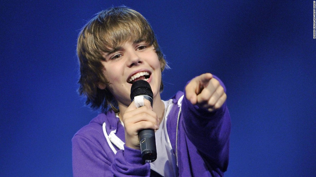 Back then, Bieber was a fairly innocent teen heartthrob.
