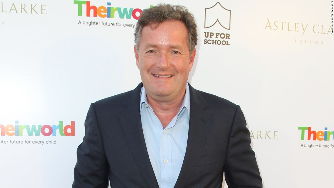 "Piers Morgan won the first season of ""Celebrity Apprentice"" in 2008. He's the former host of CNN's ""Piers Morgan Live."" These days, American audiences keep up with him on Twitter, where he often mixes it up and <a href=""http://www.mediaite.com/online/piers-morgan-unleashes-tweetstorm-blasting-media-reluctance-to-show-pov-killing-videos/"" target=""_blank"">shares his strong views on gun control. </a>"