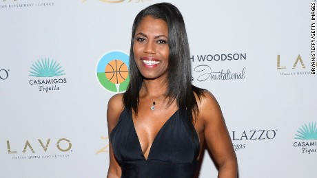 LAS VEGAS, NV - JULY 12:  Television personality Omarosa Manigault arrives at the second annual Coach Woodson Las Vegas Invitational pairings party at the Lavo Restaurant & Nightclub at The Palazzo Las Vegas on July 12, 2015 in Las Vegas, Nevada.  (Photo by Bryan Steffy/Getty Images for PGD Global)