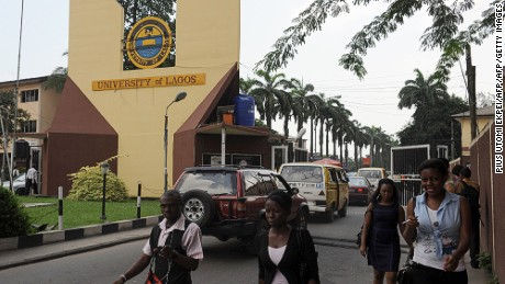 Students leave the University of Lagos. (File image)