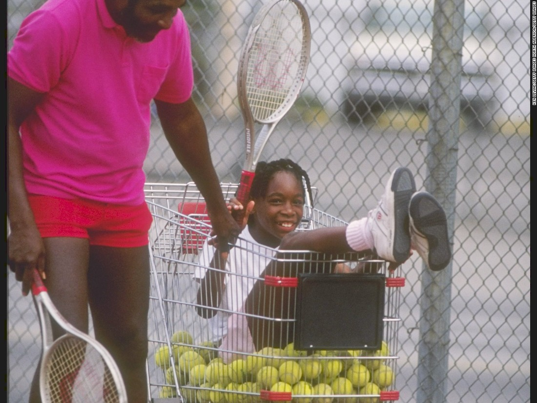 "Richard, seen here with Venus during a practice session, instilled the motto purportedly first said by Benjamin Franklin: ""If you fail to plan, you plan to fail."""
