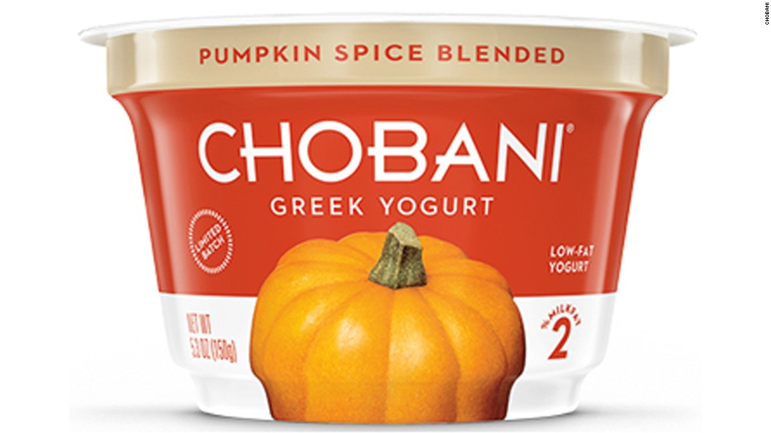 Chobani Pumpkin Spice Greek yogurt