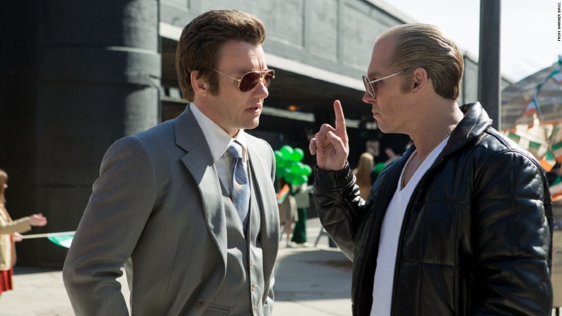 "<strong>""Black Mass""</strong> stars Johnny Depp, right, as Boston gangster Whitey Bulger. Benedict Cumberbatch plays Bulger's brother, politician and university president Billy Bulger."