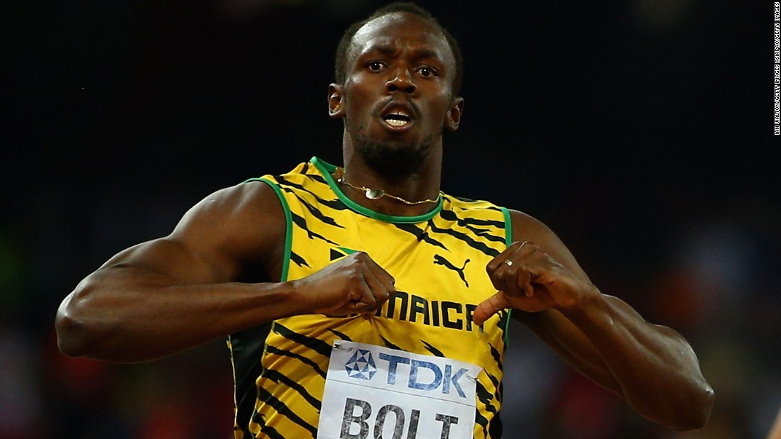 Bolt had already seen off Justin Gatlin to land the 200m title in Beijing Thursday.