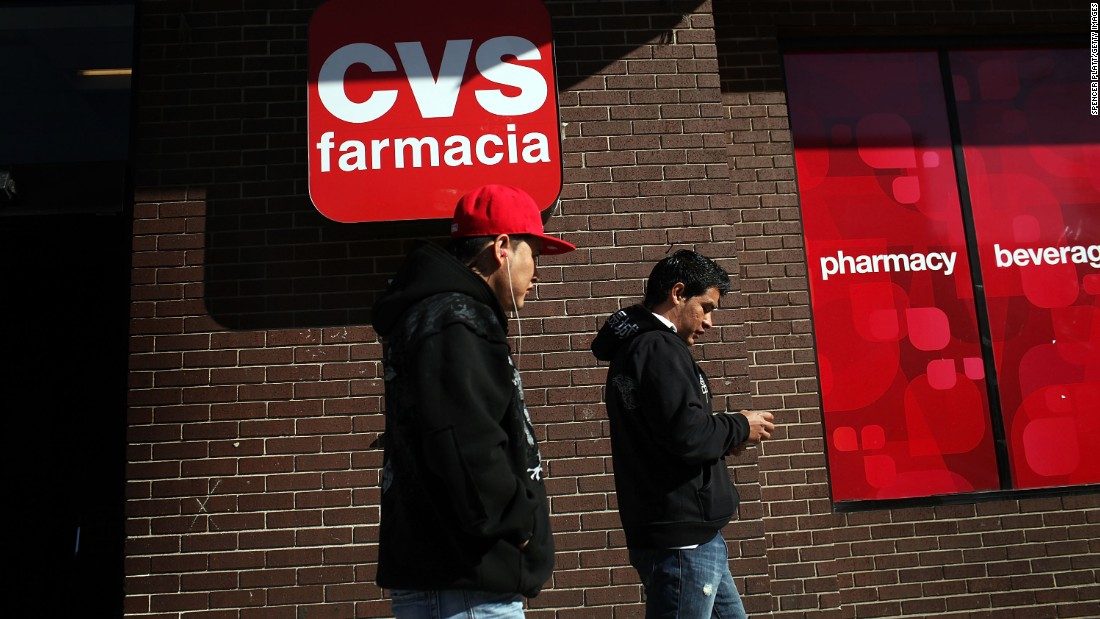 "Hispanic residents walk by a bilingual sign for a CVS pharmacy in Union City, New Jersey.  A July report by the Spain-based nonprofit Instituto Cervantes indicates that the United States is the world's <a href=""http://www.cnn.com/2015/07/01/us/spanish-speakers-united-states-spain/index.html"">second-largest Spanish-speaking country</a>. Only Mexico has more Spanish speakers."