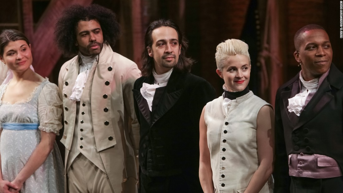 "Actor Lin-Manuel Miranda, center, and cast members from the musical ""Hamilton,"" landed on Broadway to raves from audiences and critics alike. The show about founding father Alexander Hamilton (written by Miranda, who is of Puerto Rican descent) was praised for its innovative music and diverse casting. The show's fans include President Barack Obama, <a href=""http://www.cnn.com/2015/07/17/politics/obama-hamilton-broadway/index.html"">who saw it in July</a>."