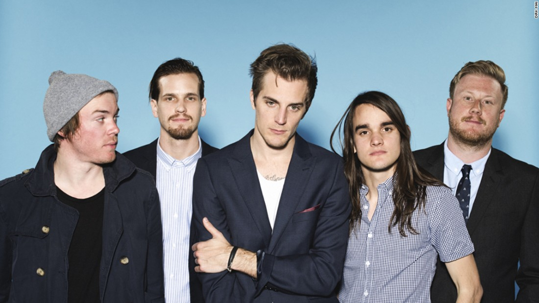 The Maine are, from left: bassist Garrett Nickelsen, guitarist Kennedy Brock, singer John O'Callaghan, drummer Patrick Kirch and guitarist Jared Monaco. The Arizona rock band is launching a free national tour.