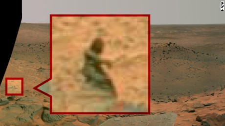 Hunting for aliens in Mars photos