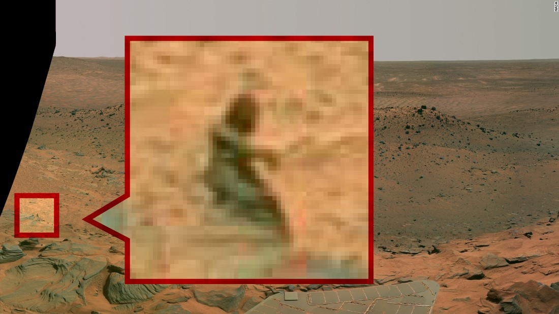"The Mermaid: Before there was Curiosity, there was the Spirit rover, which captured this image of a ""mermaid"" in 2008."
