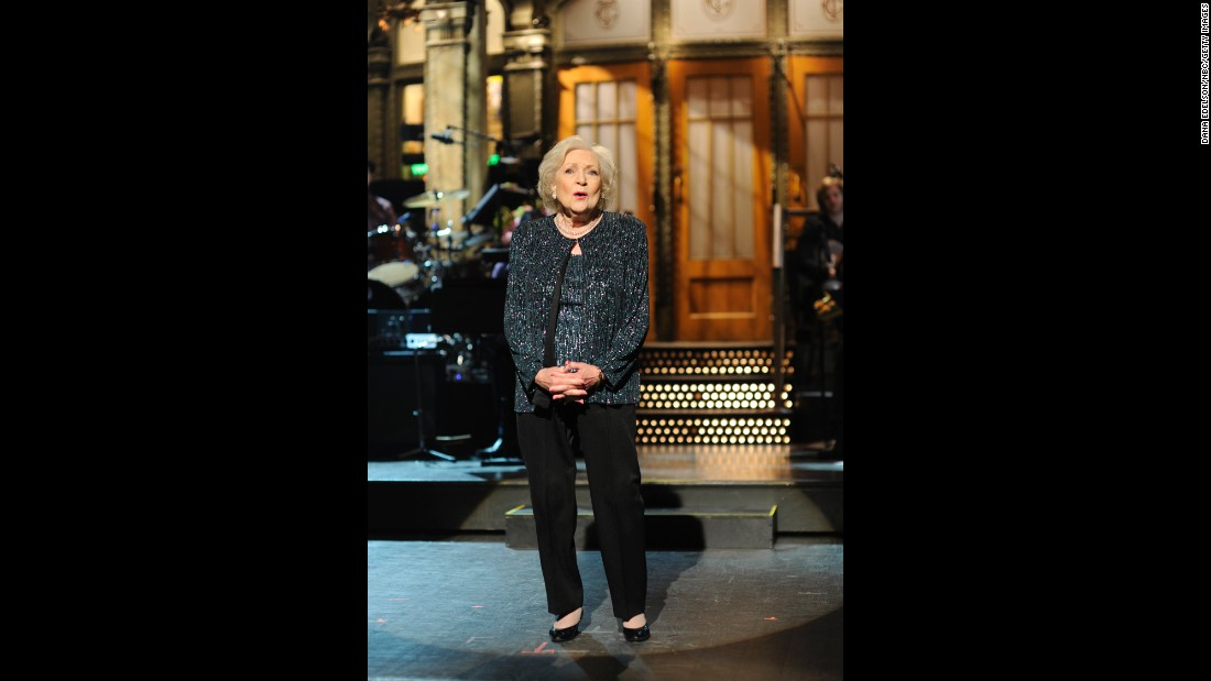 "White is the oldest person ever to host ""Saturday Night Live."" She was the emcee of an episode in 2010."