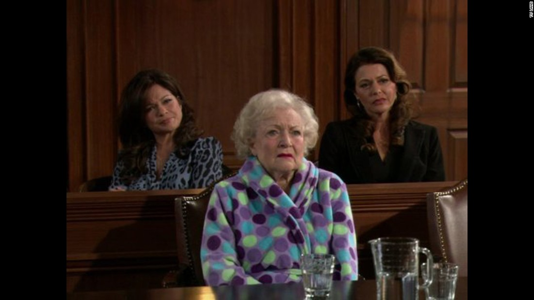 "White was part of the cast of ""Hot in Cleveland,"" a sitcom about showbiz veterans settling in the Ohio city. Her co-stars included Valerie Bertinelli, left, and Jane Leeves."