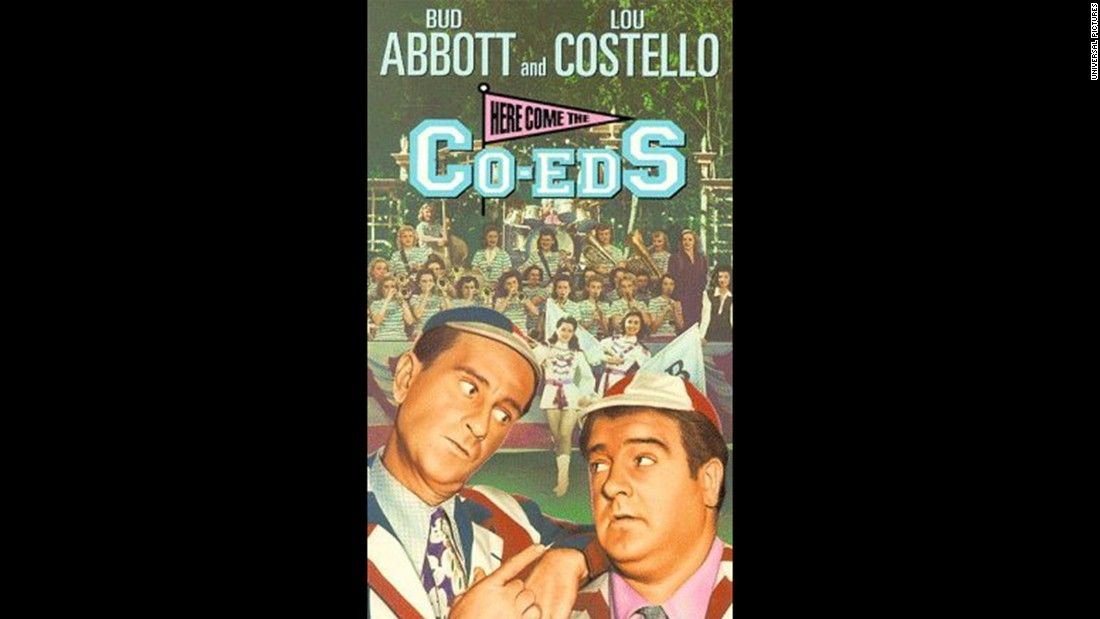 "Comedy team Bud Abbott and Lou Costello become caretakers at an all-girls college in the 1945 flick ""Here Come the Co-Eds."" Obviously, hilarity ensues."