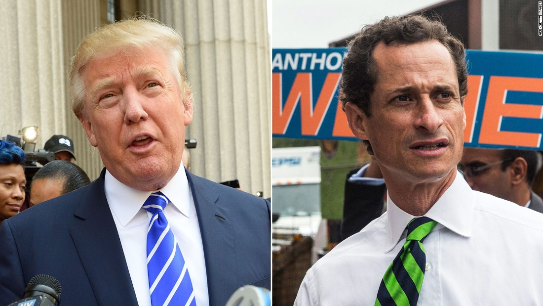 Donald Trump defiant after calling Anthony Weiner a 'perv'