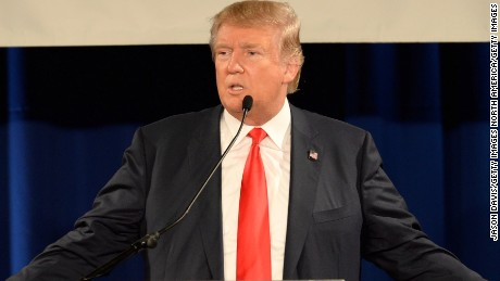 Republican presidential candidate Donald Trump speaks at the National Federation of Republican Assemblies (NFRA) Presidential Preference Convention at Rocketown on August 29, 2015 in Nashville, Tennessee.