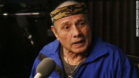 "Jimmy ""Superfly"" Snuka visits a radio show in on January 9, 2013, in New York City."