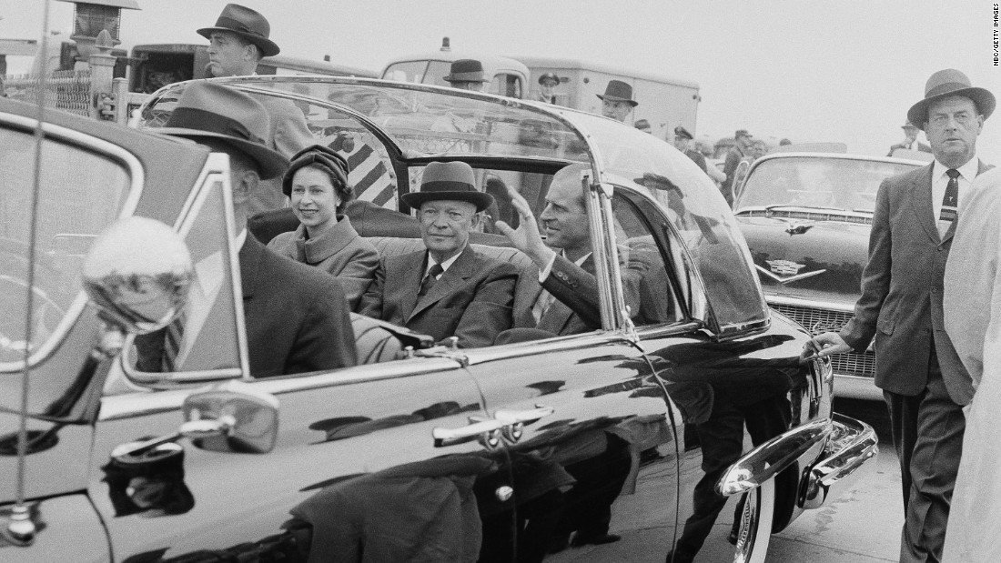 Dwight D. Eisenhower<br />Years in office: 1953 - 1961<br />Dwight D. Eisenhower was the first serving President who Elizabeth II met during her reign; he was also her host during her first state visit to America in 1957. They also met during a visit to Canada two years later in 1959. Representing Canada and as head of the Commonwealth, the Queen welcomed Eisenhower to the country before they formally opened the St. Lawrence Seaway with a short cruise aboard the royal yacht, Britannia.<br />