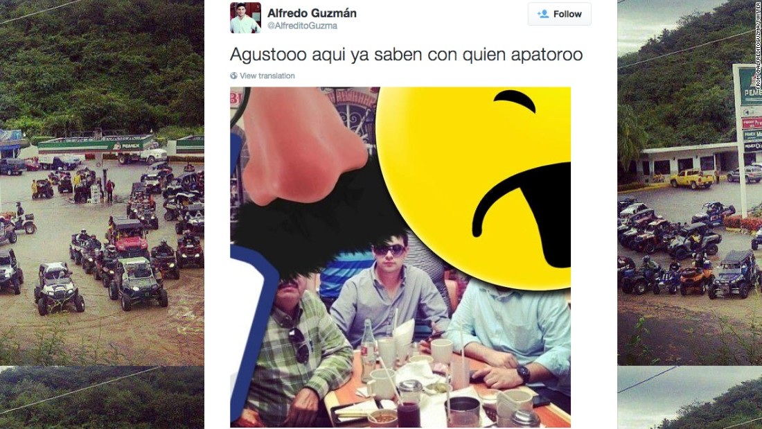 Did 'El Chapo' Guzman's son tweet fugitive's location?