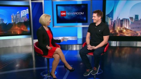 Actor John Barrowman visits with CNN