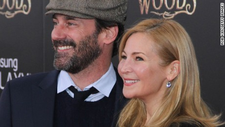 "NEW YORK, NY - DECEMBER 08:  Jon Hamm and Jennifer Westfeldt attend ""Into The Woods"" World Premiere - Outside Arrivals at Ziegfeld Theater on December 8, 2014 in New York City.  (Photo by Rob Kim/Getty Images)"