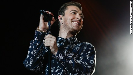 Sam Smith performs at Lollapalooza in Chicago on August 1, 2015.
