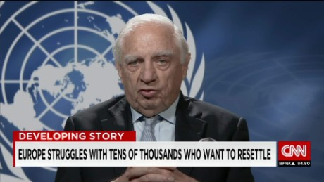 exp Peter Sutherland discusses the ongoing migration crisis in the EU_00002001